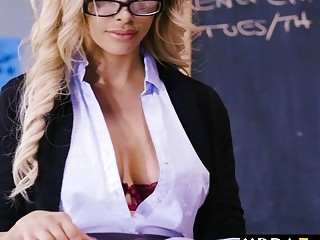 My teacher is an ex pornstar and I got to fucked her